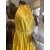 Kép 4/4 - Yellow szatén ruha