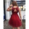 Kép 2/3 - Nerina bordó ruha