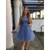 Kép 1/3 - Nerina kék ruha