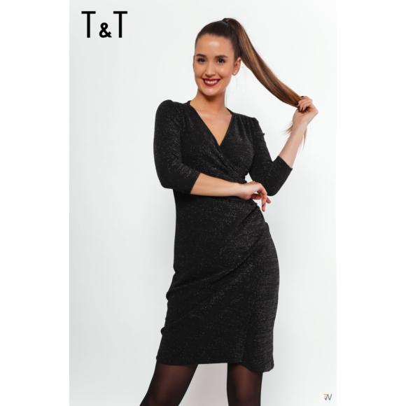 T&T Ila átlapolós ruha