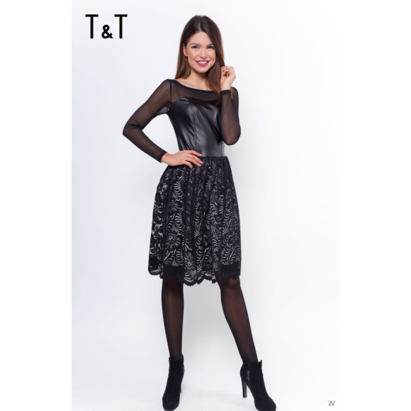 T&T bőr ruha