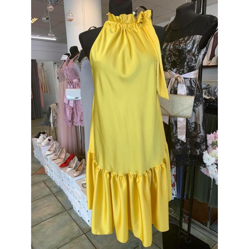 Yellow szatén ruha