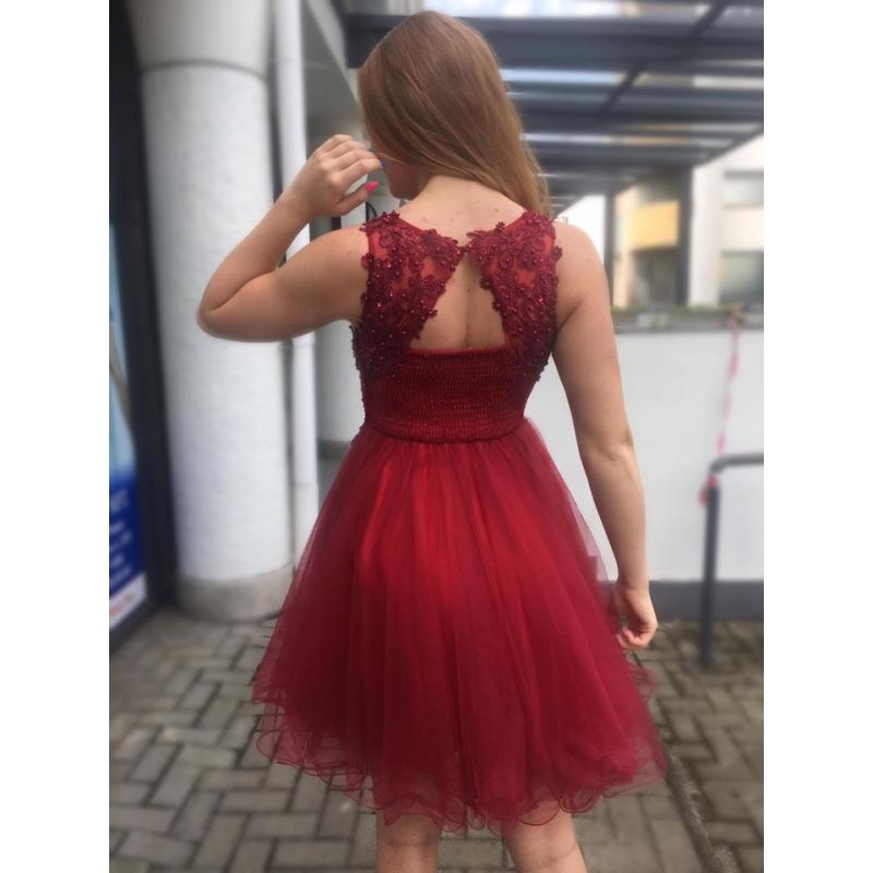 Nerina bordó ruha