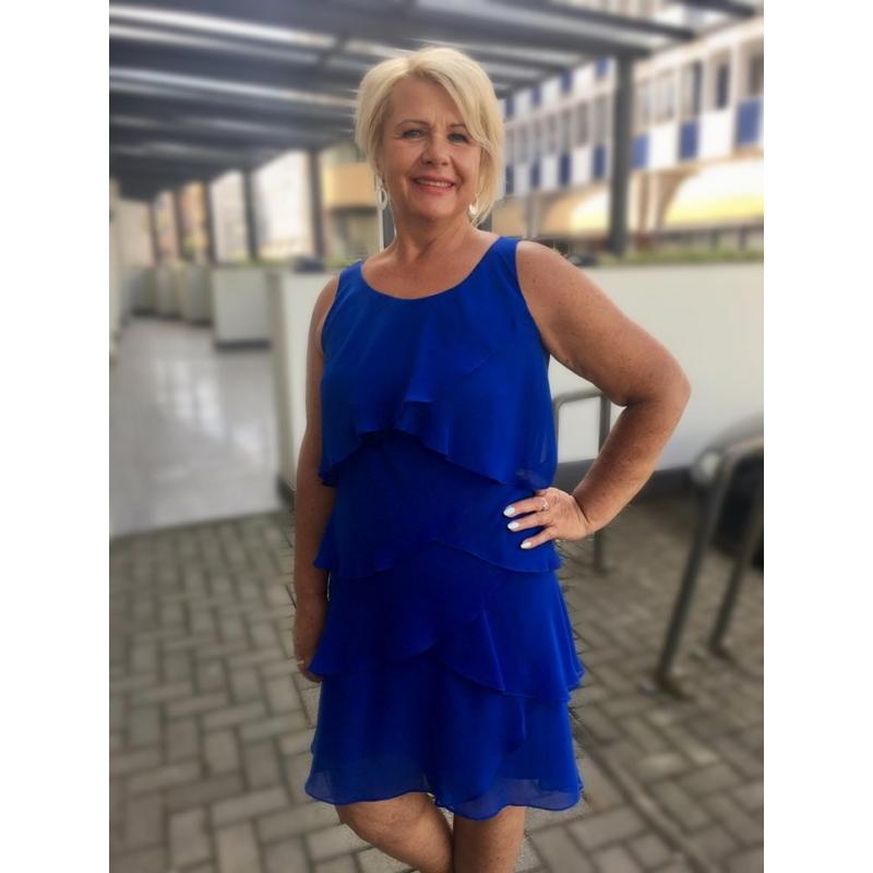 Minerva kék ruha
